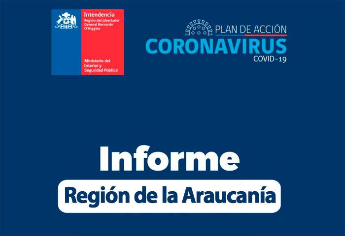 Actualización de casos Covid-19 en la araucanía